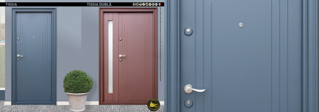 Tracia Outdoor Resistant Metalc Doors